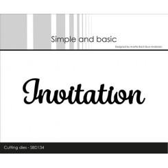 Invitation dies, Simple and basic