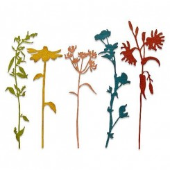 Wildflower stems dies, Tim Holtz