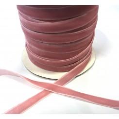 Velour bånd Lyserød 1 cm, pr. m