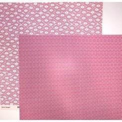 Lyserød blomst scrapark 30 x 30 cm