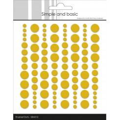 Enamel Dots, Mustard SBA012