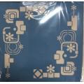 Stencil Retro hjørner 33 x 33 cm