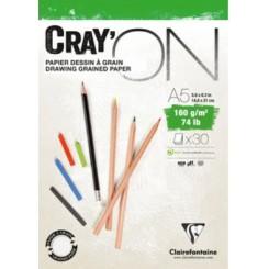 Cray'on A4 160g fint kornet papir