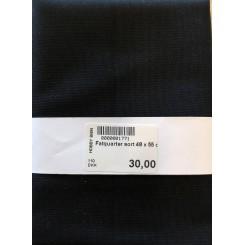 Patchwork stof Sort, 48 x 55 cm