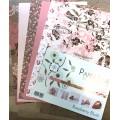 Roseberry Blush design papir A4