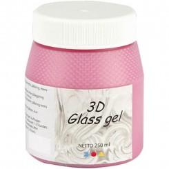 3D Glas gel 250 ml, Pink