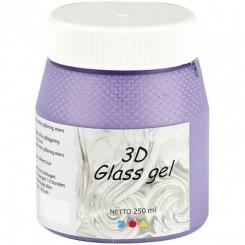 3D Glas gel 250 ml, lilla
