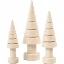 Juletræer træ 3 størrelser