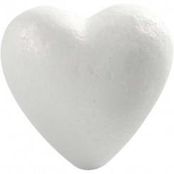 Styropor hjerte  12 cm
