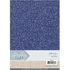 Glitter karton 6 ark fv. Dark blue