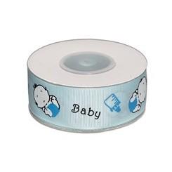 Bånd baby lysblå 25 mm x 10 m
