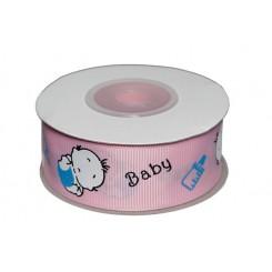 Bånd baby lyserød 25 mm x 10 m