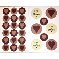 Traditione christmas stickers heart