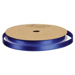 Satinbånd Marine blå 10cm x 10 m