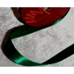 Satinbånd grøn 15 mm x 10 m