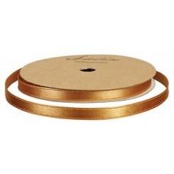 Satinbånd 10 mm Brun / Guld