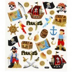 Stickers pirater glitter