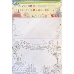 Color me glitter cards sæt