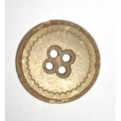 Kokus mønster knap 2 huls 23 mm