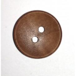 træknap mørk 2 huls 12 mm