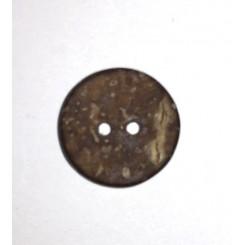 Kokusknap mørk 2 huls 10 mm