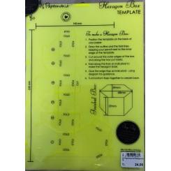 Papermania Hexagon box skabelon