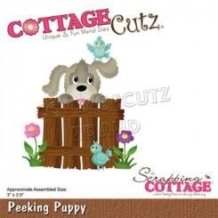 Peeking puppy dies, CottageCutz