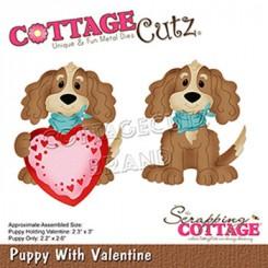 Puppy with Valentine, CottageCutz