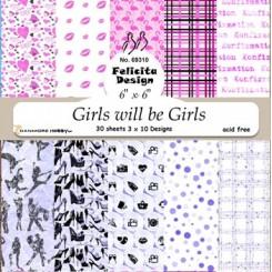 Girls will be Girls 15 x 15 cm,