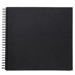 Scrapbook 50 sider sort 29 x29 cm
