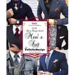Men´s Suit toppers 9 x 9 cm