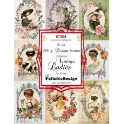 Vintage Ladies toppers 7 x 10 cm