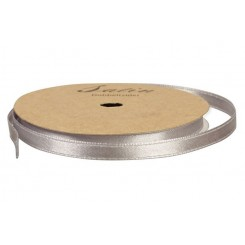 Satinbånd 6 mm Sølv x 10 m