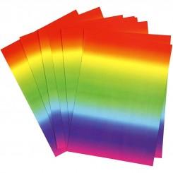 Regnbuekarton 180 g 21x30 cm
