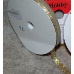 Satinbånd Guld 10 mm x 10 m