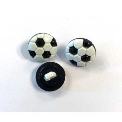 Knap fodbold sort / hvid
