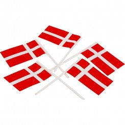 Lagkageflag 20 stk Dansk flag