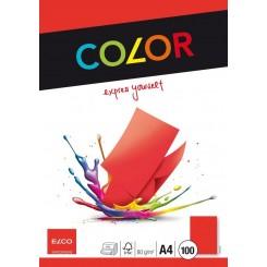 Kopipapir Rød 80 g x 100 stk