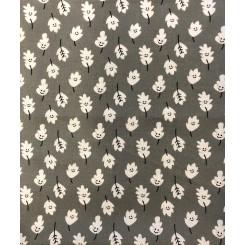 Glad grå blade  patchwork 50 x 55 cm