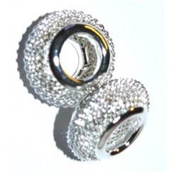 Netperler sølv 14 mm x 3 stk