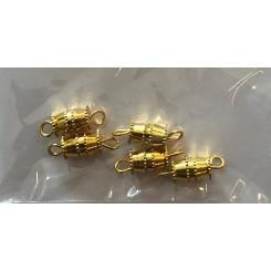 Skruelås guld farvet 9 x 5 mm