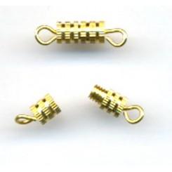 Skruelås Guld 8 x 4 mm x 5 stk