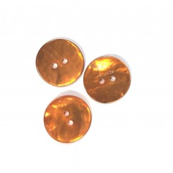 Perlemors knap Orange 20 mm