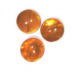 Perlemors knap Orange 18 mm
