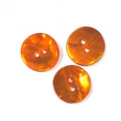 Perlemors knap Orange 15 mm