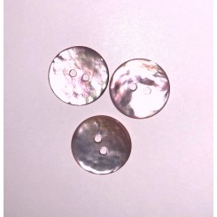 Perlemors knap lyserød 20 mm