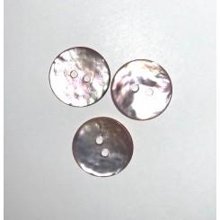 Perlemors knap 15 mm, 2 huls
