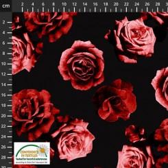 Avalana Jersey Rød Blomst 17-340