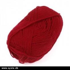 Akrylgarn no.1 Rød, Lammy yarns