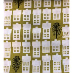 Fat Quarters 50 x 56 cm Huse grøn